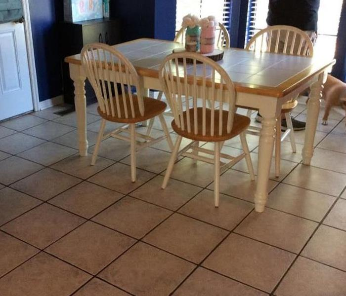 Dining Room with Tile Flooring